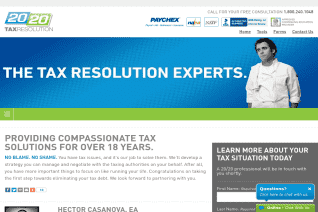 20 20 Tax Resolution reviews and complaints