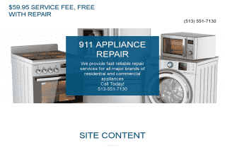 911 Appliance Repair of Cincinnati reviews and complaints