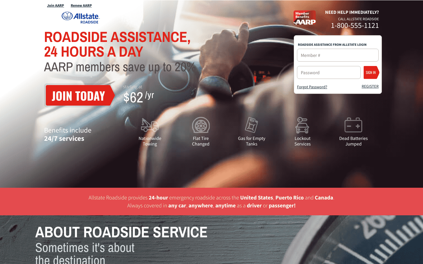 AARP Roadside Assistance from Allstate reviews and complaints