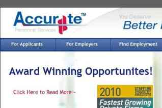 Accurate Personnel Services reviews and complaints