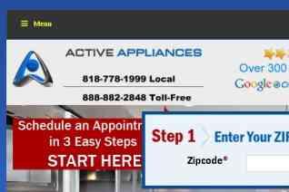 Active Appliances reviews and complaints