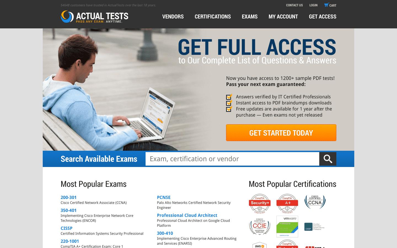 Actualtests reviews and complaints