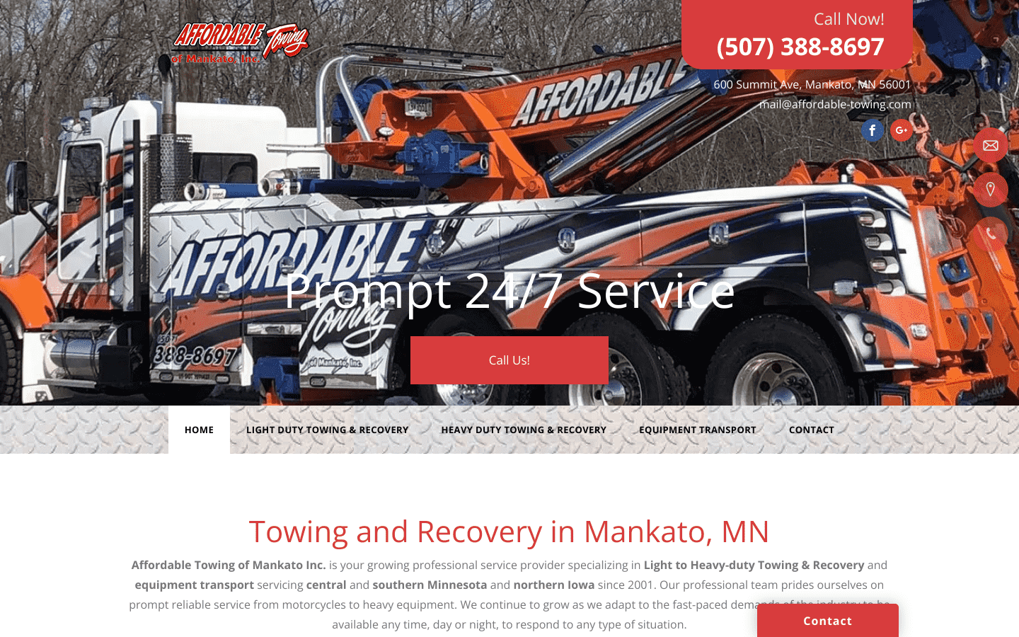 Affordable Towing reviews and complaints