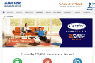 Aire One Heating And Cooling reviews and complaints