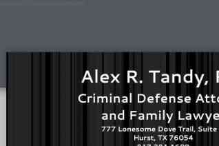 Alex R Tandy Attorney at Law reviews and complaints