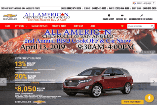 All American Chevrolet Of San Angelo reviews and complaints