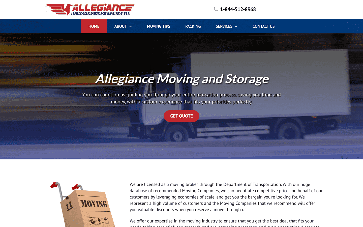 Allegiance Moving and Storage LLC reviews and complaints
