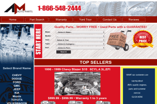 AM Used Auto Parts reviews and complaints