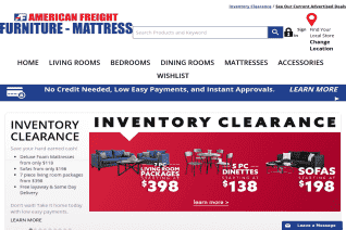 American Freight Furniture reviews and complaints