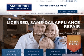 AmeriPro Appliance Repair reviews and complaints