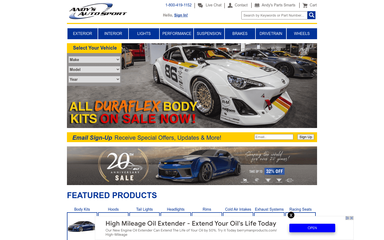 Andys Autosport reviews and complaints