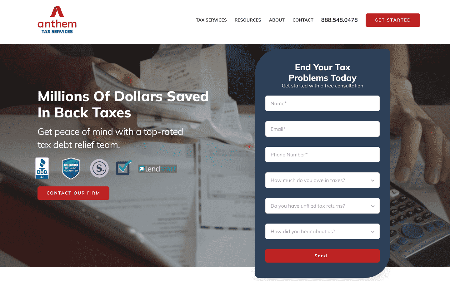 Anthem Tax Services reviews and complaints