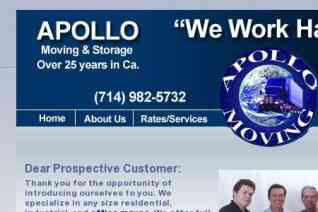 Apollo Moving and Storage reviews and complaints
