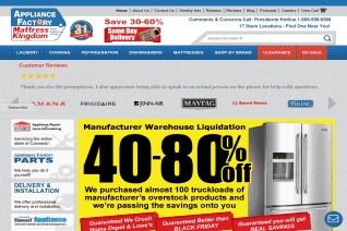 Appliance Factory And Mattress Kingdom reviews and complaints