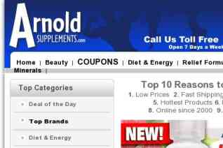 Arnold Supplements reviews and complaints