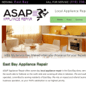 ASAP Appliance Repair of Union City reviews and complaints