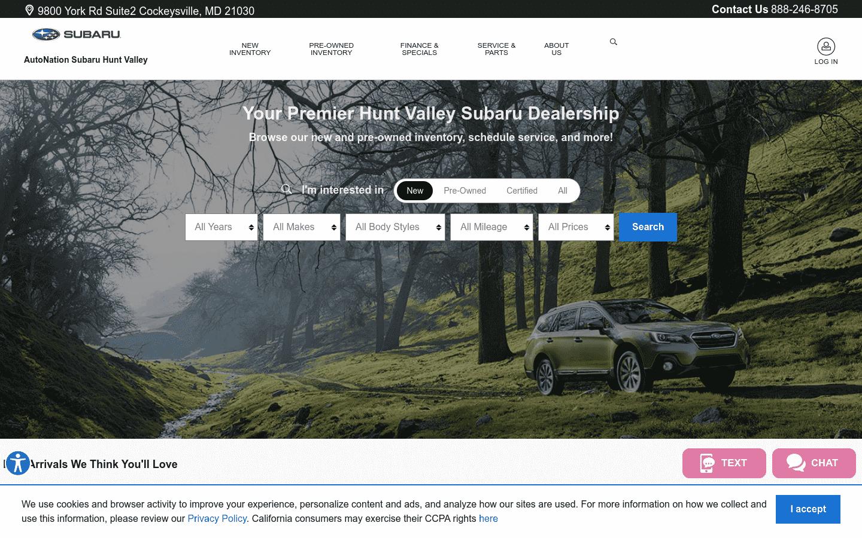 AutoNation Subaru Hunt Valley reviews and complaints