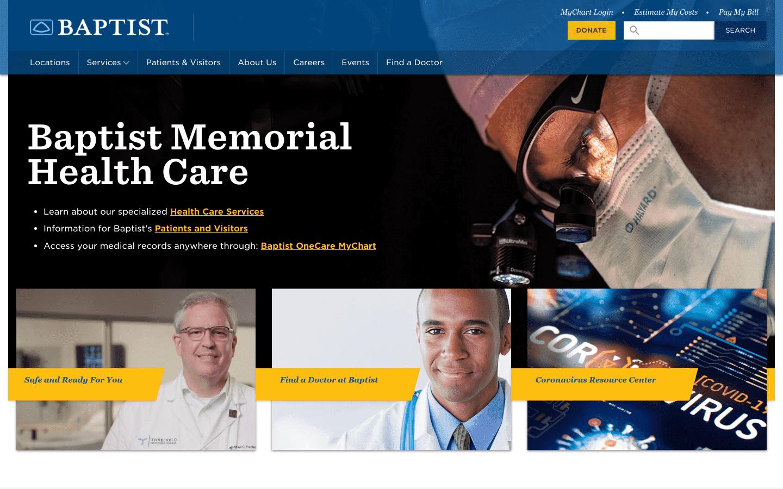 Baptist Memorial Hospital reviews and complaints