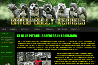 Bayou Bully Kennels reviews and complaints