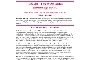 Behavior Therapy Associates of Syosset reviews and complaints