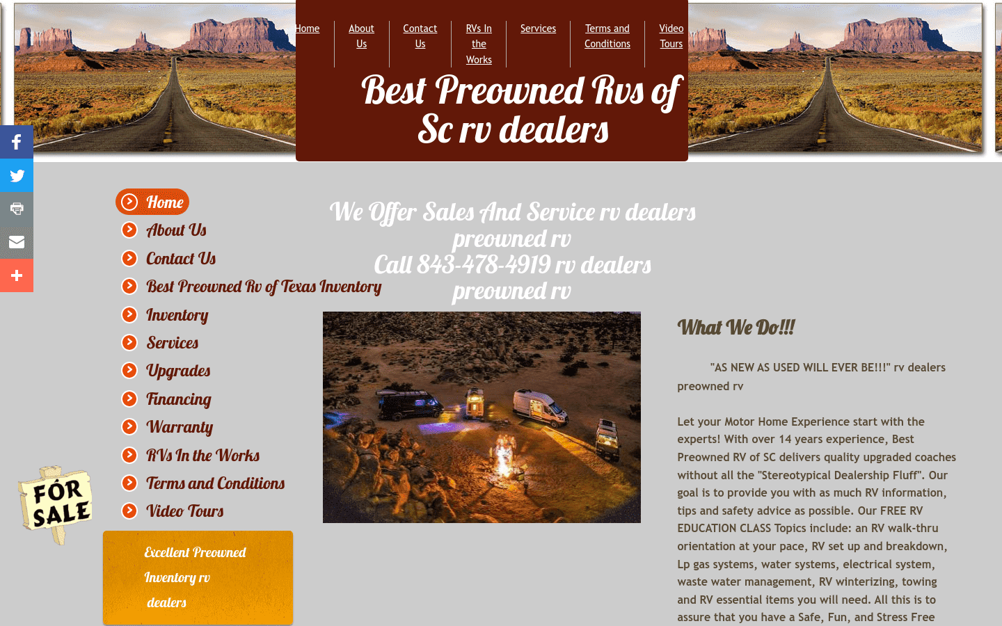 Best Preowned Rvs Of South Carolina reviews and complaints