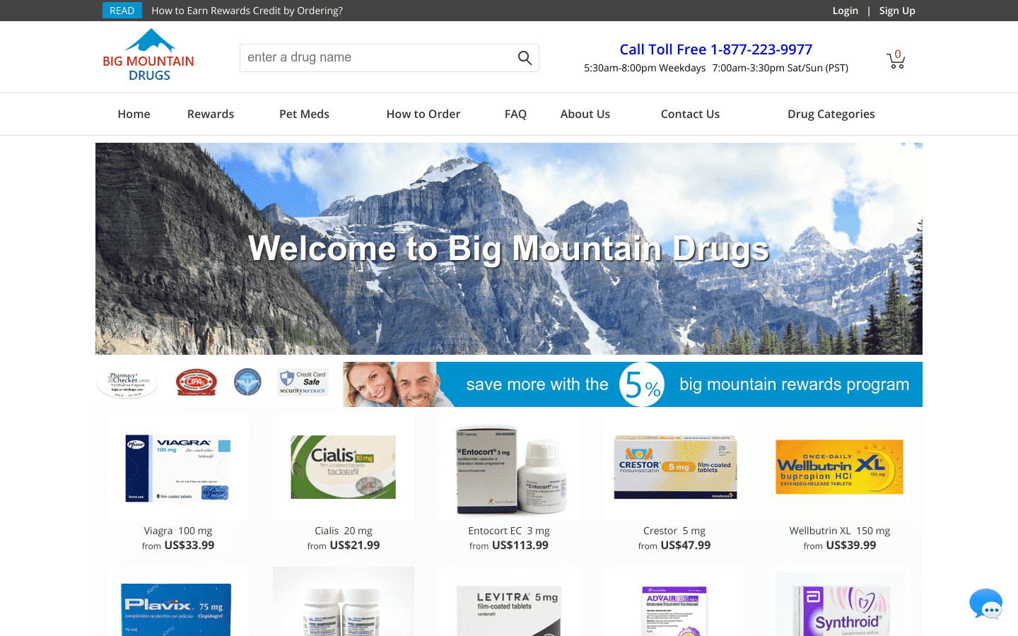 Big Mountain Drugs reviews and complaints