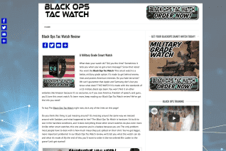 Black Ops Tac Watch reviews and complaints