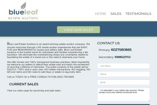 Blue Leaf Estate Auctions reviews and complaints