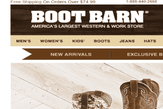 Boot Barn reviews and complaints