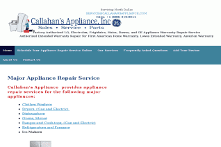 Callahans Appliance reviews and complaints