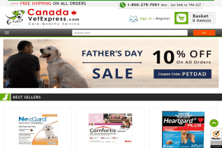 Canada Vet Express reviews and complaints