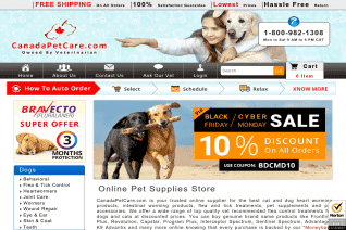 CanadaPetCare reviews and complaints
