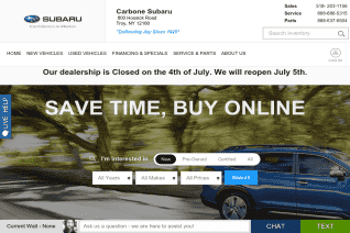 Carbone Subaru Of Troy reviews and complaints