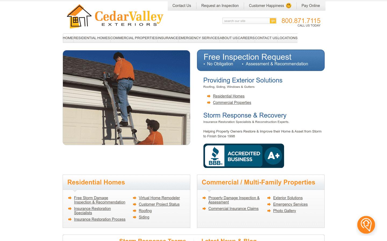 Cedar Valley Exteriors reviews and complaints