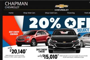 Chapman Chevrolet reviews and complaints