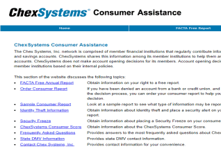 ChexSystems reviews and complaints