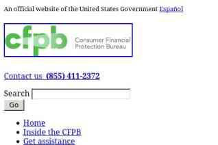 Consumer Financial Protection Bureau reviews and complaints