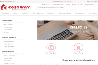 Costway Canada reviews and complaints