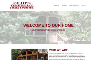 Coy Construction reviews and complaints
