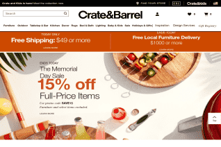 Crate And Barrel reviews and complaints