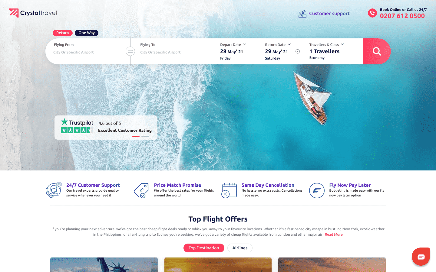 Crystal Travel UK reviews and complaints