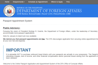 Dfa Passport Appointment System reviews and complaints