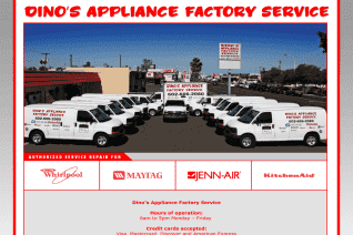 Dinos Appliance Factory Service reviews and complaints