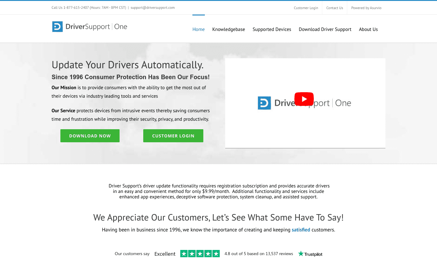 DriverSupport reviews and complaints