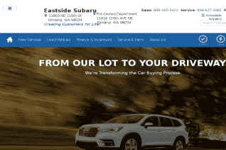 Eastside Subaru reviews and complaints