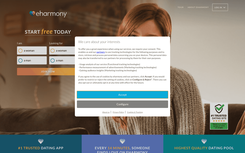 eHarmony UK reviews and complaints
