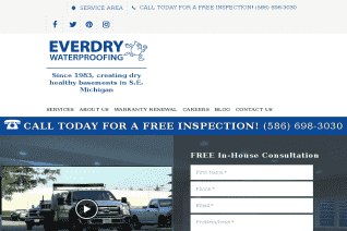 EverDry Waterproofing Of Michigan reviews and complaints