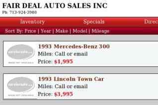 FAIR DEAL AUTO SALES reviews and complaints