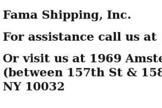 Fama Shipping reviews and complaints