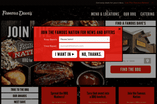 Famous Daves reviews and complaints